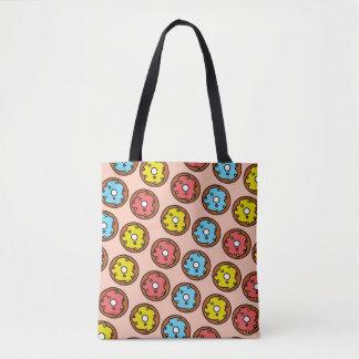 Pink Donut Patterned Tote Bag