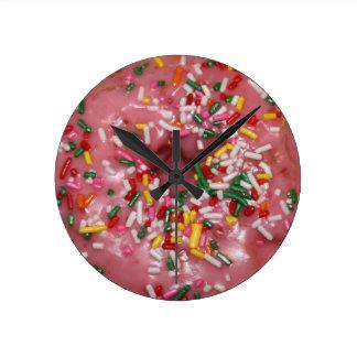 Pink Donut Wall Clocks