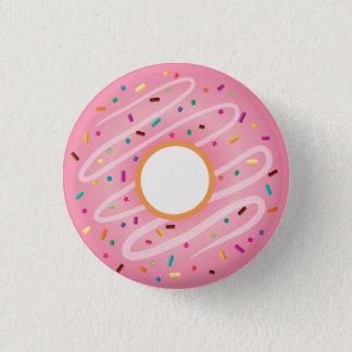 Pink Donut with Rainbow Sprinkles 3 Cm Round Badge