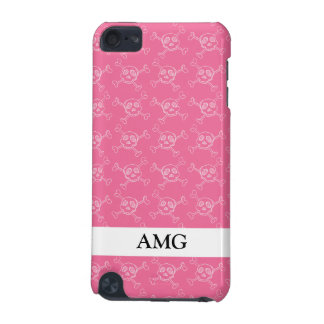 Pink Doodle Punk Rock Skull Pattern iPod Touch 5G Covers