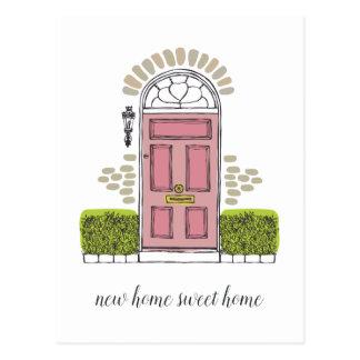 Pink Door Moving Announcement Postcard
