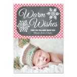 Pink Dot Chalkboard Snowflake Holiday Photo Card 13 Cm X 18 Cm Invitation Card