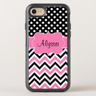 Pink Dot Chevron OtterBox Symmetry iPhone 8/7 Case