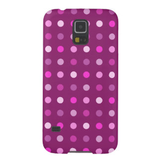 Pink Dot Pattern on Plum Galaxy S5 Covers