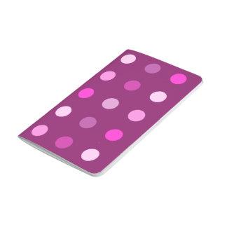 Pink Dot Pattern on Plum Journal
