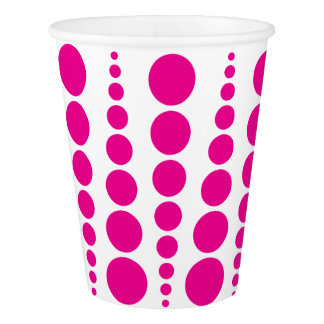 PINK DOT PRINT. CUSTOMIZABLE BACKGROUND PAPER CUP