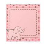 Pink Dots Elephant Notepad