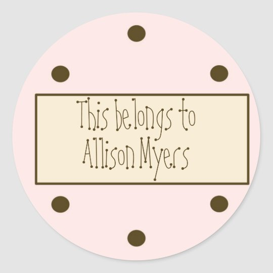 Pink Dots Gift Sticker (Customisable)