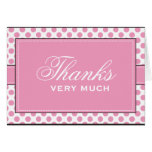 Pink  Dots : : Modern Thank You Cards