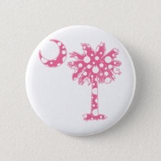 Pink Dots Palmetto 6 Cm Round Badge