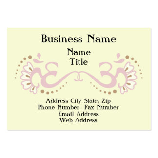 Pink Double Om Profile Card Business Cards