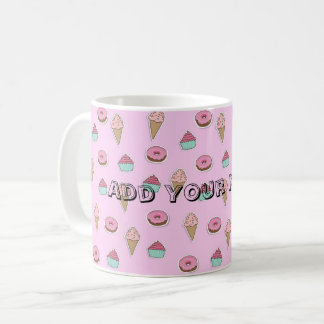 Pink Doughnut and Sweets Mug