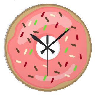 Pink Doughnut Clock