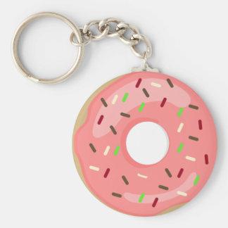 Pink Doughnut Keychain