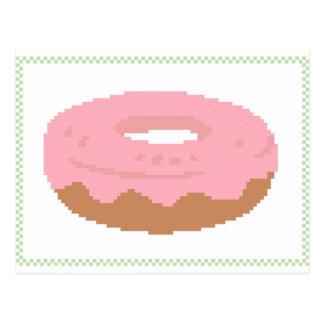 Pink Doughnut with sprinkles Postcard