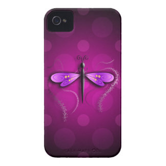 Pink Dragon Fly Polka Dots! iPhone 4 Cases