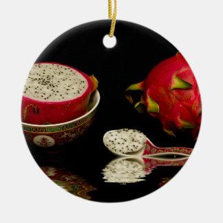 Pink Dragon Fruit Christmas Ornament