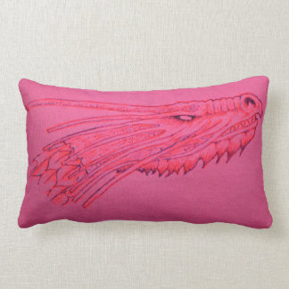 Pink Dragon Head Cushion