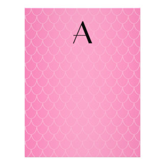 Pink dragon scales monogram 21.5 cm x 28 cm flyer