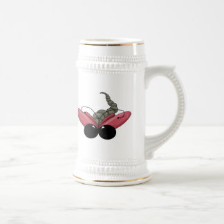 Pink Dragonfly Beer Stein