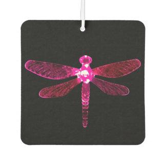 Pink Dragonfly Car Air Freshener