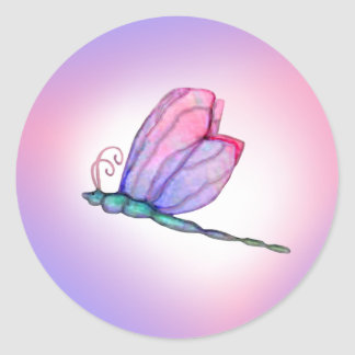 Pink Dragonfly Dragonflies Stickers