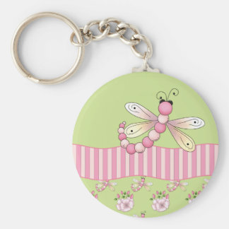 Pink Dragonfly Key Chain