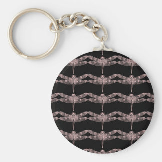 Pink Dragonfly Key Ring