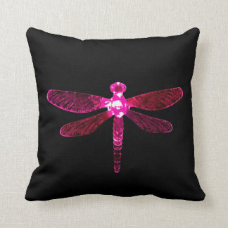 Pink Dragonfly Throw Pillow