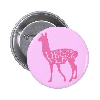 Pink Drama Llama 6 Cm Round Badge