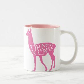Pink Drama Llama Two-Tone Coffee Mug