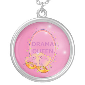 Pink Drama Queen Theater Masks Actress Pendants