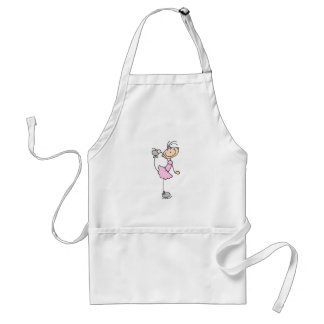 Pink Dress Figure Skater T-shirts and Gifts Standard Apron