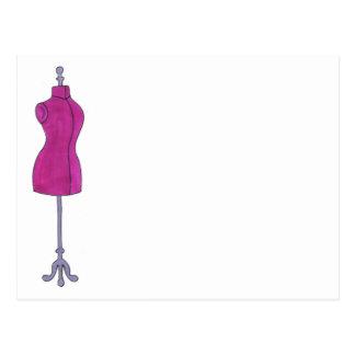 Pink Dressform Postcard