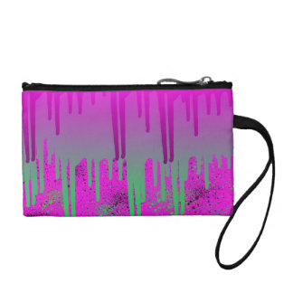 Pink Drippin' Paint Coin Purse
