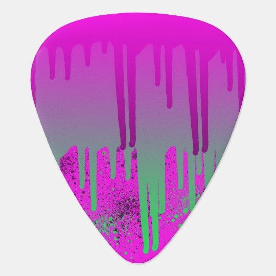 Pink Drippin' Paint Plectrum