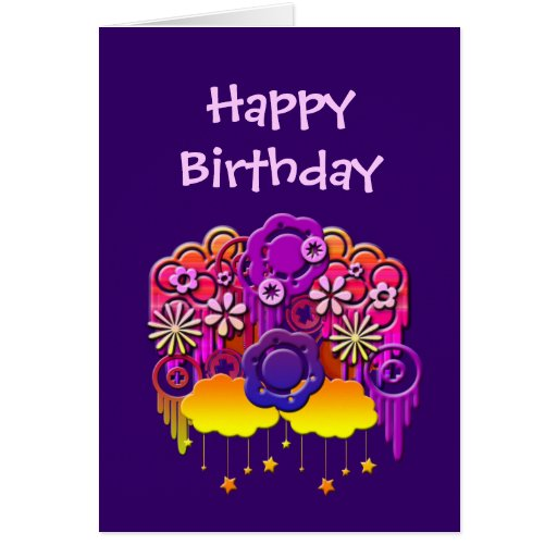 Pink Drips Customizable Cards