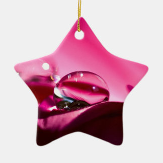 Pink Drop Christmas Ornament