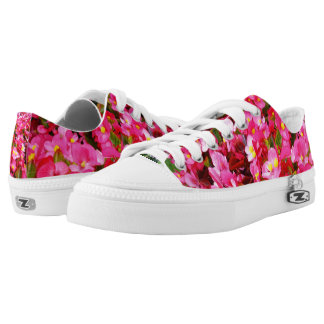 Pink Droplets Of Spring, Lowtop Zipz Sneakers. Printed Shoes