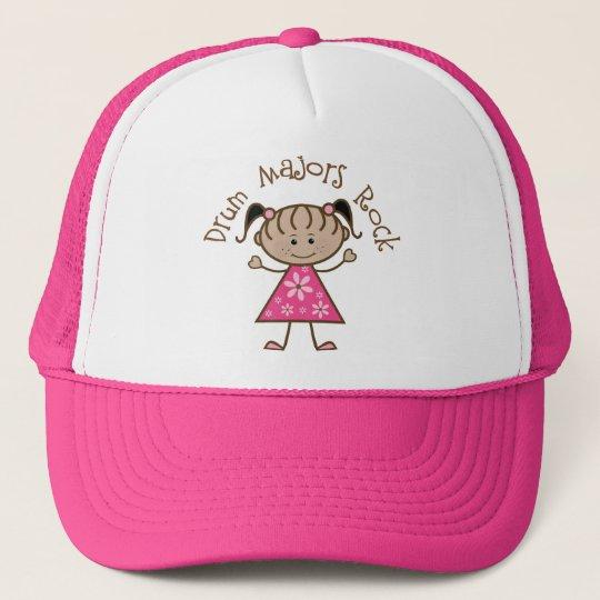 Pink Drum Majors Rock Stick Figure Cap