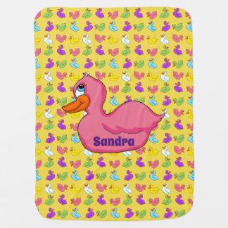 Pink Duck Baby Blanket