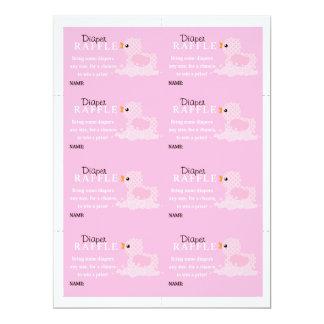 Pink Duck Diaper Raffle Card