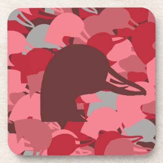 Pink Duck Head Camo Coasters