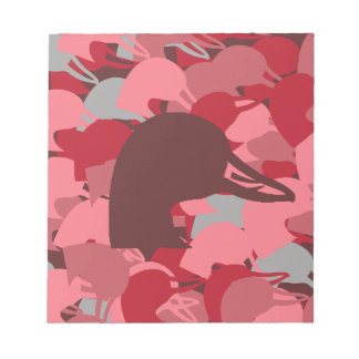 Pink Duck Head Camo Notepad