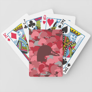 Pink Duck Head Camo Playing Cards