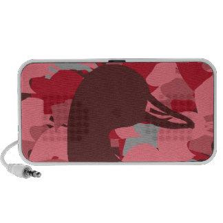 Pink Duck Head Camo Notebook Speakers