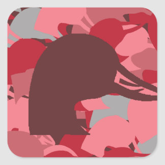 Pink Duck Head Camo Stickers
