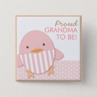 Pink Ducky Proud Grandma Pin