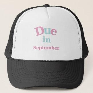 Pink Due in September Trucker Hat