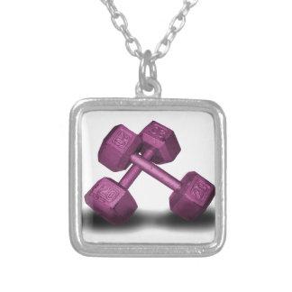 Pink Dumbbells Merchandise Pendants